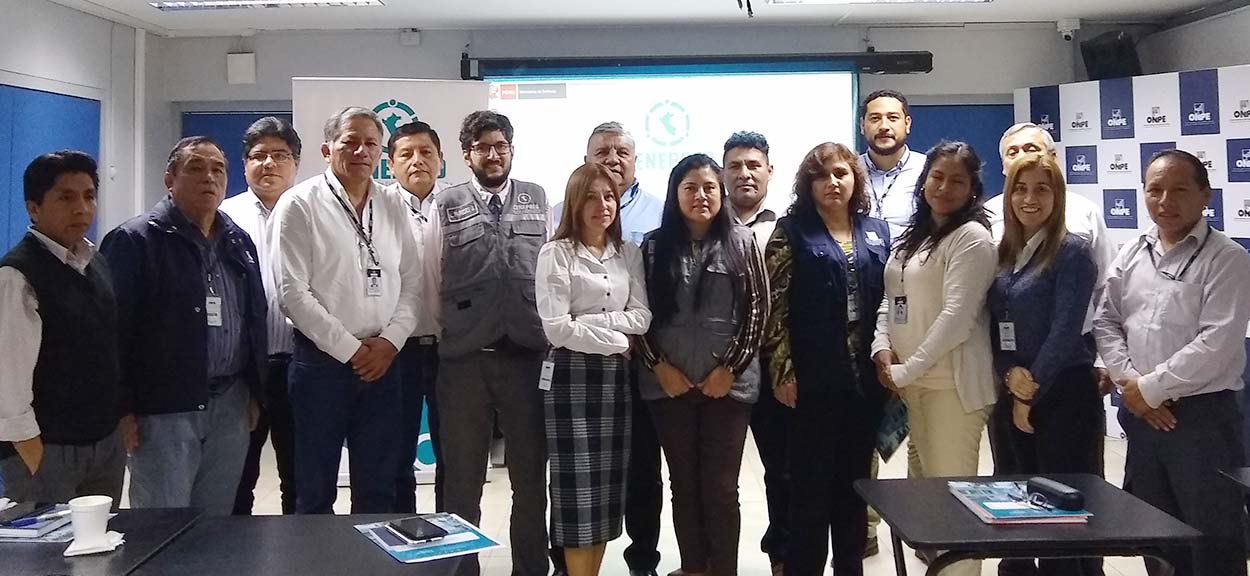 Capacitación al Equipo Técnico de la ONPE para elaborar su Plan de Prevención y Reducción del Riesgo de Desastres
