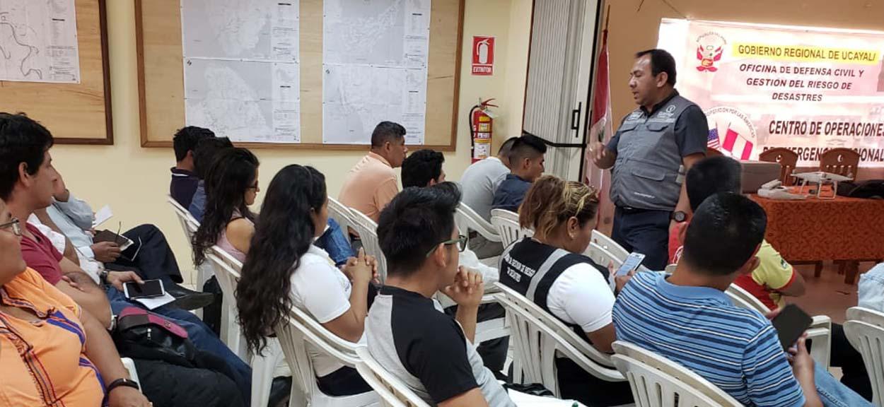 CENEPRED capacitó a personal del gobierno regional y local de Ucayali en el uso y aplicación del SIGRID